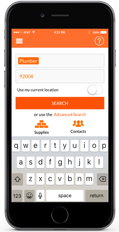 Search for pros with ServicePair