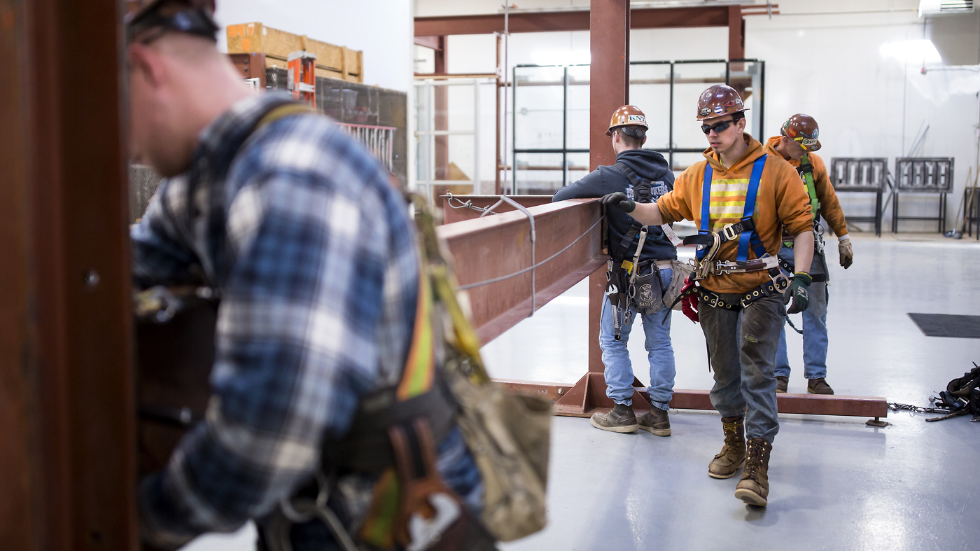 Garret Morgan is training as an ironworker near Seattle